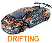DRIFTING 1:10 HSP FLYING FISH a 2.4 GHz. naranja-carbono