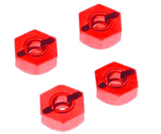 02100 102042 - Hexagono 12mm interno cogida rueda 1:10 aluminio ROJO