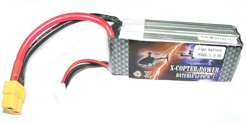 Batería Li-Po X-COPTER Power 11,1v 2.200 mAh descarga 60C-0