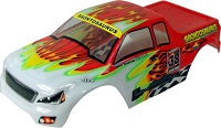 88014 - Carroceria HSP  de Monster o Crawler 1/10 Rojo-blanco