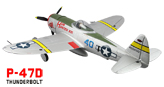 Avion Dynam P47D THUNDERBOLT con tren retractil Brushless PNP