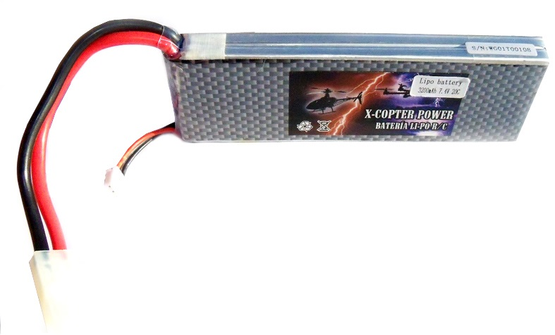 Batería Li-Po X-COPTER Power 11,1v 2.200 mAh descarga 30C-0