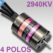 Motor brushless E-FLY de 4 POLOS coches 1/10 B3650 2.5Y 2940KV