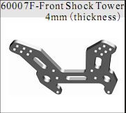 60007f - Front Shock Tower aluminio gris