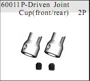 60011p - Centre Driven Joint Cup 2P