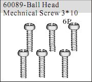 60089 - Ball Head Mechnical Screw 3*10 6P