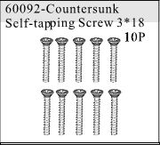 60092 - Countersunk Self-tapping Screw 3*18 10P