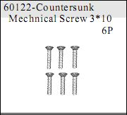 60122 - Countersunk Mechnical Screw 3*10 6 P