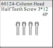 60124 - Cap Head Self-tapping Screw M3*12 4P