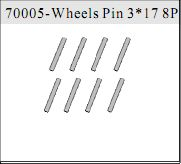 70005 - Pin ruedas 3*17mm 6 uds