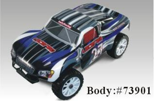 73901 Carroceria  RALLY MONSTER 1:8 AZUL CON PEGATINAS