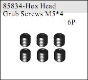 85834 - Set Screws M5*4 6P