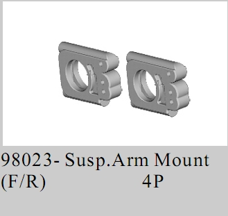 98023 - Front/Rear Susp.Arm Mount 2P