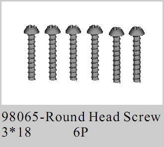 98065 - Round Head Screw 3*18 6P