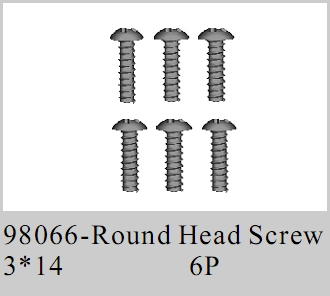 98066 - Round Head Screw M3*14 6P