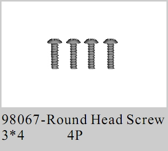 98067 - Round head Screw 3*4 4P