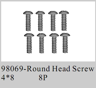 98069 - Round Head Screw M4*8 8P