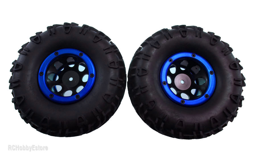 18017 Set 2 ruedas crawler 126x55mm 1:10 completas 18072 AZUL