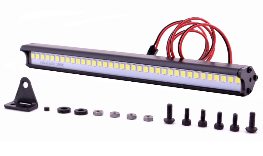 Barra techo PANEL LED de 150mm alto brillo para crawler Trx-4 Trx4 Axial SCX10 D90 RC Rock