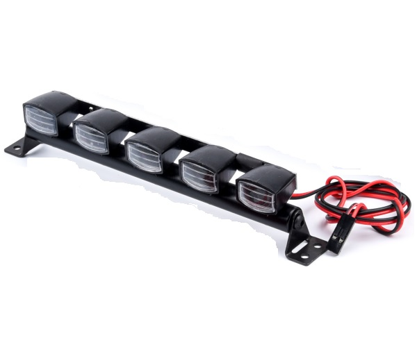 Barra techo con 5 focos LED para crawler Trx-4 Trx4 Axial SCX10 D90 RC Rock