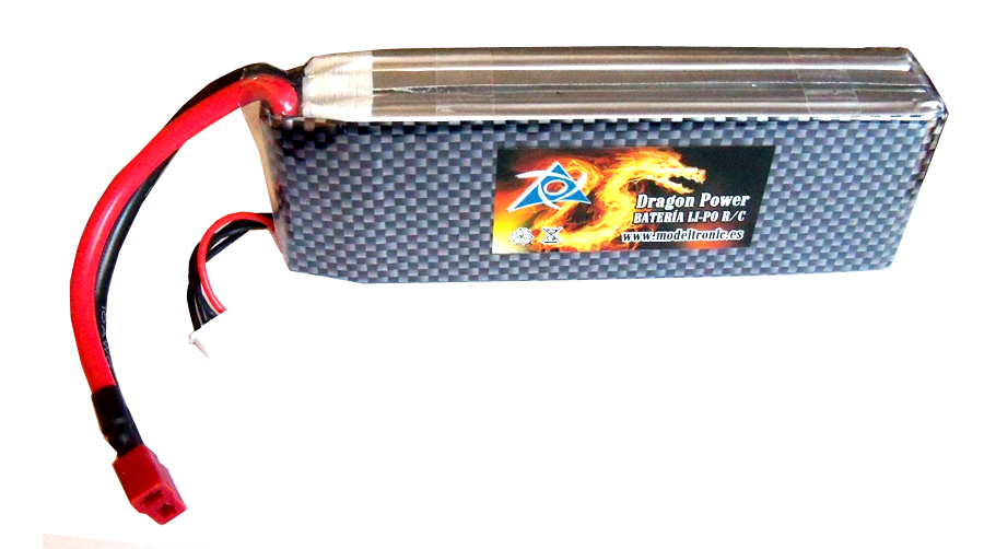 Batería Li-Po X-Dragon Power 3S 11,1V, 5.400 mAh 50C T-Dean para coches rc 140x42x30 mm