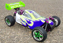 Buggy 1:10 HSP WARHEAD 2.4 GHz+CHISPO+1L Azul-Verde
