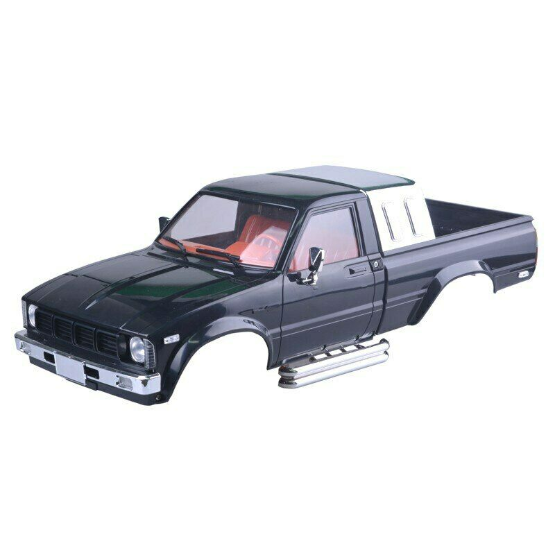 Carrocería completa plástico duro crawlers RC modelo Pick up Toyota color NEGRO HG-P407 ASS-08