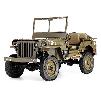 Coche Rock Crawler 4X4 ROCHOBBY 1/6 1941 MB MILTARY SCALER JEEP WILLYS RTR 2.4GHZ resistente al agua VERSION PNP