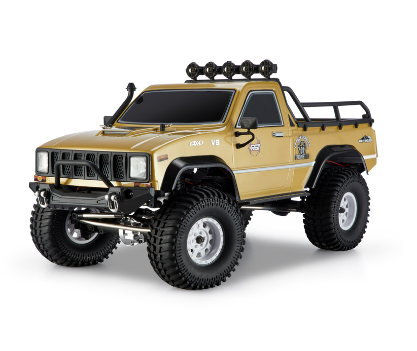 Coche Rock Crawler RGT EX86110 1/10 2.4G tracción 4x4 RTR resistente al agua VERSION LIPO color Marron