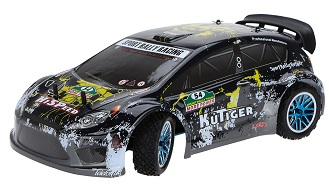 Coche nitro RC escala 1:10 HSP Sport Rally Racing traccion 4x4 + CHISPO + 1L combustible Negro