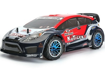 Coche nitro RC escala 1:10 HSP Sport Rally Racing traccion 4x4 + CHISPO + 1L combustible Negro-rojo
