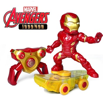 Coche rc superhéroes Patinete RC de Iron Man giratorio Skateboard Marvel Avengers oficial 2.4Ghz RTR