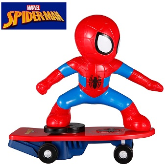 Coche rc superhéroes Patinete RC de Spiderman giratorio Skateboard Marvel oficial 2.4Ghz RTR
