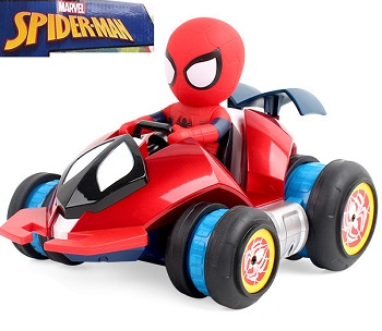 Coche rc superhéroes Spiderman drifting stunt car Marvel oficial 2.4Ghz RTR con 6 modos de funcionamiento