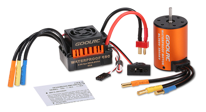 Combo brushless GoolRC coches 1:10 3650 3900KV ESC 60A Waterproof