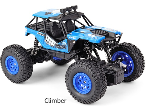 Crawler escala 1/20 JJRC Q66 todo terreno 4x4 2.4Ghz RTR color AZUL