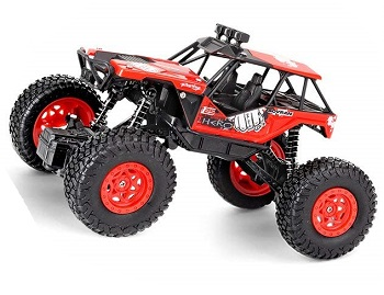 Crawler escala 1/20 JJRC Q66 todo terreno 4x4 2.4Ghz RTR color ROJO