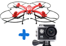 Dron MJX X102H con altitud estable y soporte Gopro + Cámara HD Sports WIFI NEGRA