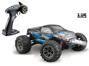 Monster brushless radio control XLH Q901 escala 1/16 completo tracción 4x4 color AZUL 55 km/h xinlehong