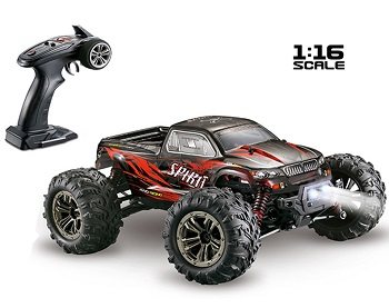 Monster brushless radio control XLH Q901 escala 1/16 completo tracción 4x4 color Rojo 55 km/h xinlehong