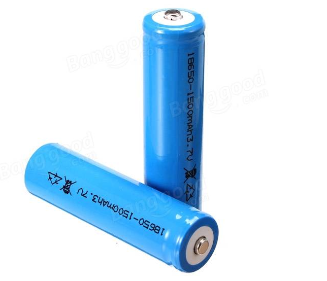 Pack 2x Baterias 18650 Ion-litio 3.7v 1500mAh HBX 12891 12633