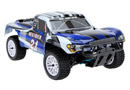 RALLY MONSTER 1:10 HSP NITRO + KIT ARRANQUE +1L Azul-blanco
