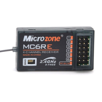 Receptor Microzone 6CH MC6RE S-FHSS PWM y S-BUS