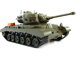 Tanque RC 1/16 Heng Long Snow Leopard M26 Pershing en 2.4Ghz LIPO 3838-1