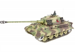 Tanque RC 1:16 King Tiger torreta Henschel Heng Long AIRSOFT 2.4G 3888A-1