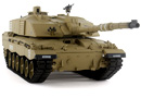 Tanque RC Heng Long 1/16 British Challenger 2 Desert 2.4G V6.0 Airsoft y Humo 3908-1 con transmisiones de acero