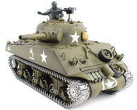 Tanque RC Sherman M4A3 escala 1:16 Heng Long dispara bolas Airsoft con humo versión METAL 2.4G 3898-1