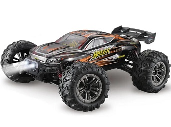 Truggy brushless radio control XLH Q903 escala 1/16 completo tracción 4x4 color Naranja 55 km/h