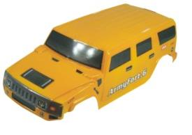 08913- Carroceria monster 1:8 HUMMER AMARILLO 51x21cm