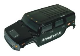 08914- Carroceria monster 1:8 HUMMER NEGRO 51x21cm